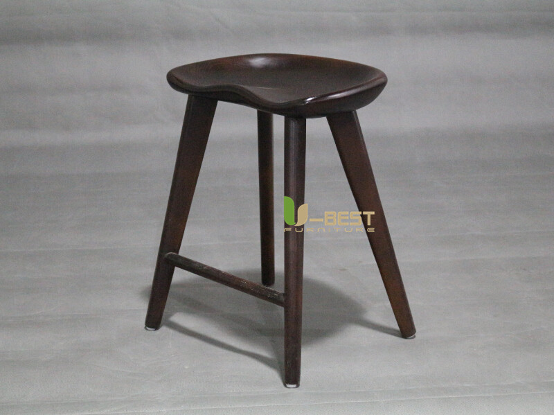 dark walnut low tractor barstool u-best stool (2)