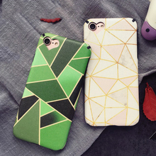 LOVECOM Geometric Triangles Loving Heart Hole Pattern Soft Silk Thin Anti Shock Mobile Phone Cases For iPhone 7 7 Plus 6 6S Plus