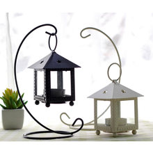 AIBEI-Europe Style Wrought Iron Morocco Retro Candle Holders 1PC Romantic Star House Hurricane lamp Home Wedding Decor
