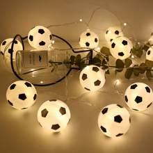 Futebol Forma Tema 10 20 Atmosfera KTV Padrão De Futebol EUA Plug Luz Da  Corda LEVOU À Prova D  Água 011e7d49951ec