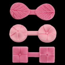 Leaf Petal Pattern 3D Silicone Mold DIY Fondant Wedding Cake Decorative Tools Clover Chocolate Baking(China)