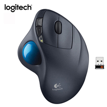 Original Logitech M570 2.4G Wireless Mouse Vertical Gaming Mice Optical Trackball Ergonomic Mouse Gamer Laptop Storable Receiver
