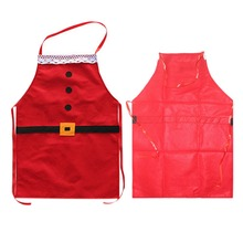 75*52cm Fabric Adult/Kids Christmas Restaurant Home Kitchen Adjustable Sleeveless Cooking Chef Apron