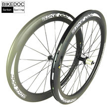 BIKEDOC Carbon Wheels 38mm 45mm 50mm 60mm 88mm Carbon Bicycle Wheels 700C Road Bike Carbon Wheelset Clincher(China)