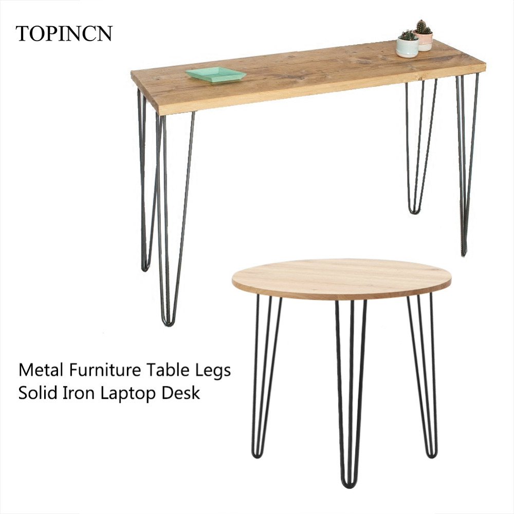 4Pcs Solid Iron Metal Table Desk Leg 28/30 inch Coffee Table Chair Laptop Desk hairpin legs Anti Slip DIY Furniture Legs title=