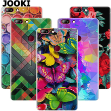 JOOKI Elephone C1 Max case beautiful Floral printing Plastic case for Elephone C1 Max Flip Cover C1 Max phone bag(China)