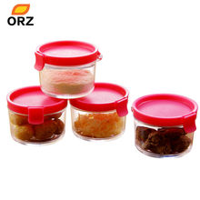 4PCS Plastic Jar With Lid Storage Box Organizer Canister Candy Honey Jam Cream Cookie Tea Coffee Sealed Jar Can Spice Bottle(China)