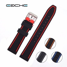 EACHE colorful watch band 20mm,22mm,24mm,26mm Silicone Rubber Watch Straps Waterproof Watchband