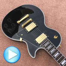 Best Price - New Style 50th Anniversary 1960 LP Black Custom electric guitar Free Delivery Ebony guitar Rose guitar
