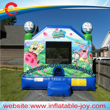 free air shipping to door,4*4m  kids  inflatable jumper,inflatable  bounce house,spongebob inflatbale bouncer