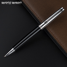 MONTE MOUNT Beautiful Design Ballpoint Pen Black and silver for Wedding Gift and Office School(China)
