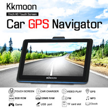 KKmoon 7''inch HD Touch Screen Car Portable GPS Navigation 8GB/128MB FM MP3 Video Player System with Free Map(China)