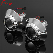 2Pcs  H1 Xenon for HID Headlight Projector Lens Retrofit Left/Right Side  Headlight Assmbely  For BMW3 E46