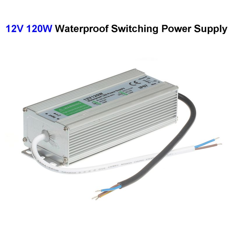 3pcs DC12V 10A 120W Waterproof Switching Power Supply Adapter Transformer For 5050 5730 5630 3528 LED Rigid Strip<br>