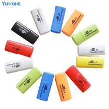 FREE SHIPPING, high quality, little dog USB 2.0 memory card reader/ TFcard /micro SD card reader  200pcs/lot