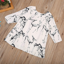 Trendy Baby Girls Cotton Kids casual Clothes animal Print Summer round neck Half sleeve cotton Party Dresses one pieces