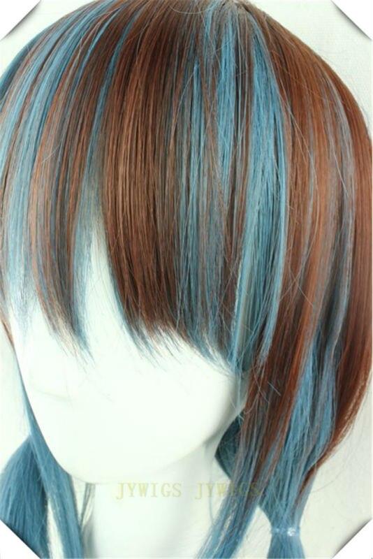 Blue Wig Cosplay Synthetic Women Wavy Hair Party Short Bob Cute Fringe Full Bangs  Blue Wig<br><br>Aliexpress