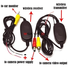 Wireless Rear View RCA Transmitter Receiver with trigger line for Car Rear Camera Monitor fit DVD,Mirror or GPS