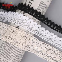 10yard/lot random cotton lace Fabric/clothing materials textiles lace DIY Crochet Knitting Cotton Lace Trim Fabric Ribbon