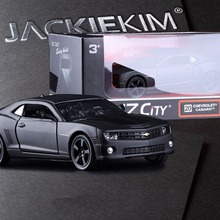Original Box Chevrolet division camaro and double open the door back in alloy models children's toy car