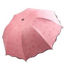 Multi-function Umbrella Lady Magic Flowers Dome Parasol Sun Rain Folding Umbrellas