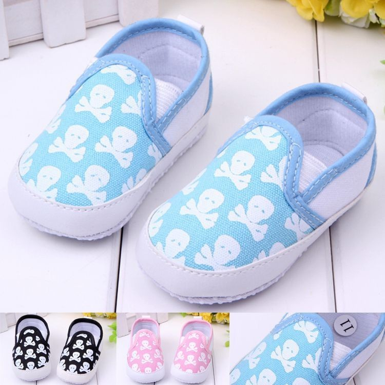 Newborn Infant Baby Skull Animal Shoes Boy Girl Shallow Pre-walker Shoes First Walkers For 0-18M<br><br>Aliexpress