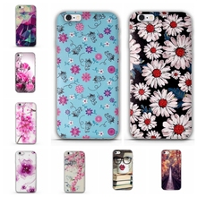 For Iphone 5 SE Case silicone soft Ultra Thin Cover For iphone 5s luxury 3D Flower Shell For iPhone 5 Phone Case Soft TPU Covers(China)