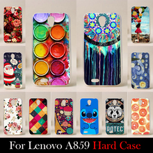 For Lenovo A859 5.0 inch Case Hard Plastic High Quality Mobile Phone Cover DIY Color Paitn Cellphone Bag Shell  Shipping Free