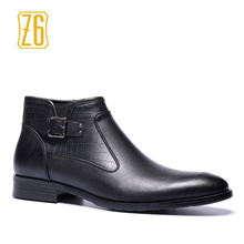 39-48 brand men boots Z6 Top quality handsome comfortable pointed toe Retro leather spring boots #R5281-1