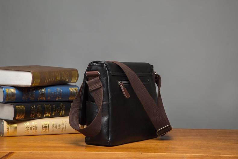 MJ Men\`s Bags Vintage PU Leather Male Messenger Bag High Quality Leather Crossbody Flap Bag Versatile Shoulder Handbag for Men (13)
