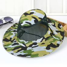 6 Color Camo Fisherman Hat Wide Brim Breathable Caps Military Camouflage Bucket Hats L3