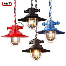Creative Personality Vintage American Industrial Lamp Loft Retro Pendant Lights Coffee Room Bar Foyer pendant lights bar(China)