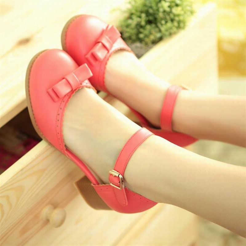 2017 Summer Sweet Bowtie womens shoes platform thick heels fashion women sandals female shoes big size 39-43 free shipping<br><br>Aliexpress