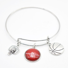 2017 New Basketball Charm Houston Bracelets&Bangle for Women Super Bowl Fans Jewelry