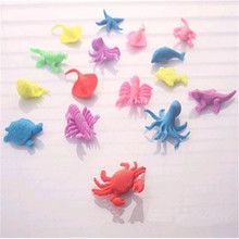 HEY FUNNY 5pcs/lot Ocean animal growing toy Marine biology Plastic toys sea animals toy Soaking expansion