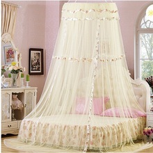 New Elegant Lace Bed Mosquito Curtain Fashing Nets for double bed Netting Mesh Canopy Princess Round Dome Bedding Net