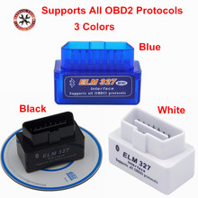 Factory Price Promotion price New MINI Vgate V 2.1 ELM 327 Bluetooth Vgate Scan OBD2 / OBDII ELM327 V2.1 Code Scanner BT adapter(China)
