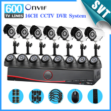 NVR CCTV 16ch System 600TVL indoor&Outdoor IR Camera Network DVR Video Surveillance kit HDMI 3g wifi Security Protection SNV-31