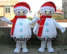Hot sale Free Shipping Good Quality Cheap Price Eva head Sponge Body Adult Snowman Mascot Costumes for Christmas(China)