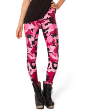 Spring Han Chao Star digital printing wholesale and retail Pink Camo sexy Leggings Lgs3085