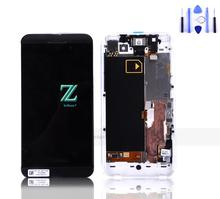 100% Warranty For Blackberry 4G Z10 LCD Display Screen With Touch Digitizer With Frame Black 1Pcs Free Shipping China Post