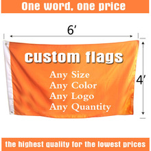 4ft*6ft FreeshippingCustom Flags and Banners Single Sided Flag Any size Any Color Any Logo FlagsSport Flags Corporate Flags(China)