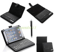 Silicon Wireless Keyboard Bluetooth Case Cover For iPad mini 1 2 3 Keyboard PU Bracket Stand Cases(China)