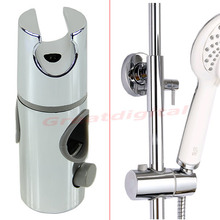 NEW Chrome Plated Head Hand Held Shower Bracket Holder For Bathroom Slide Bar H02