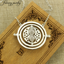 Hermione Granger Rotating Horcrux Time Turner Necklace Time Converter Hourglass Pendant Necklace For Women Fashion Jewelry