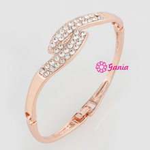 High Quality High Crystal Hinged Bangles, Rhinestone Crystal women Hinged Wave Bangles Bracelet for Women Gift Item