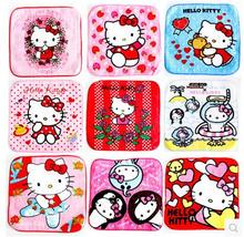 10 Pcs Mixed Colors Hello Kitty Multifunctional Use Baby Girl Towel Women Hand Towel Size 15*15CM(China)