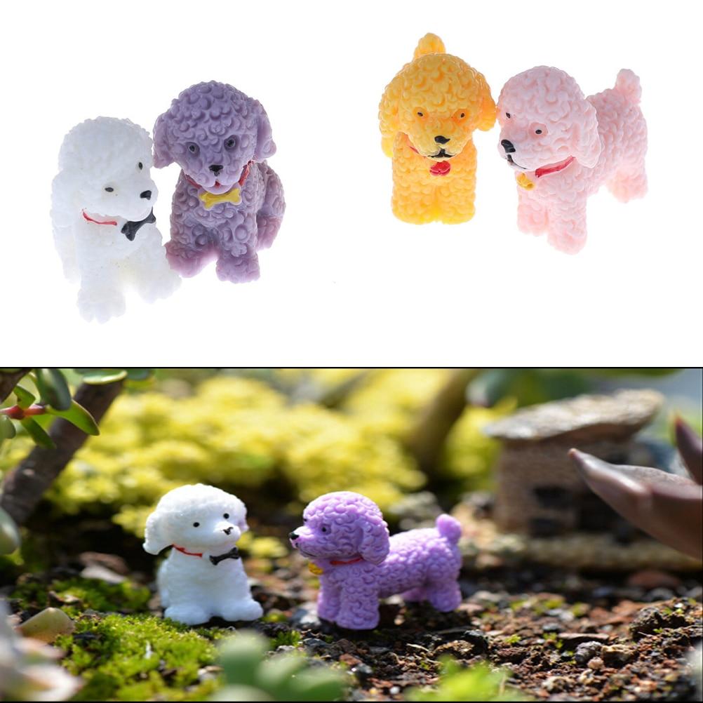 1Pc Cute Dog Lovely Micro Landscape Figures Moss Terrarium Fairy Garden Miniatures Home Decor Accessories Figurine