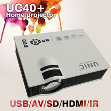 Portable mini  LCD LED Pico Projector beamer  UC40/UC40+  800x480px 1200 lumens full HD 1080P for TV PC laptop Xbox smartphons