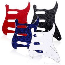 3Ply SSS Guitar Pickguard Plate for ST Style Electric Guitar Guitarra Pickguards 3 Color Avaliable Guitar Accessories(China)